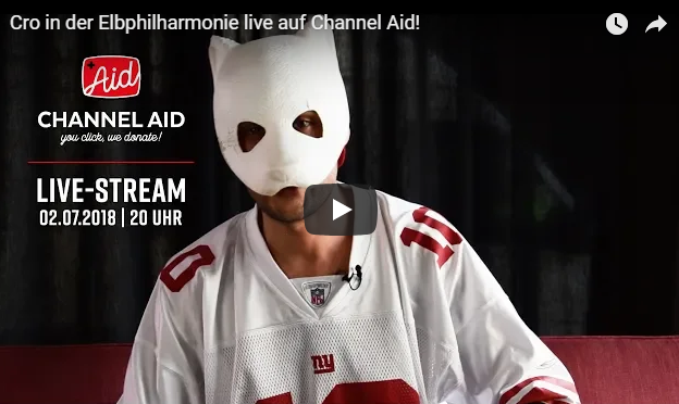 YouTube goes Charity – Top-Star CRO am 2. Juli live aus der Elbphilharmonie