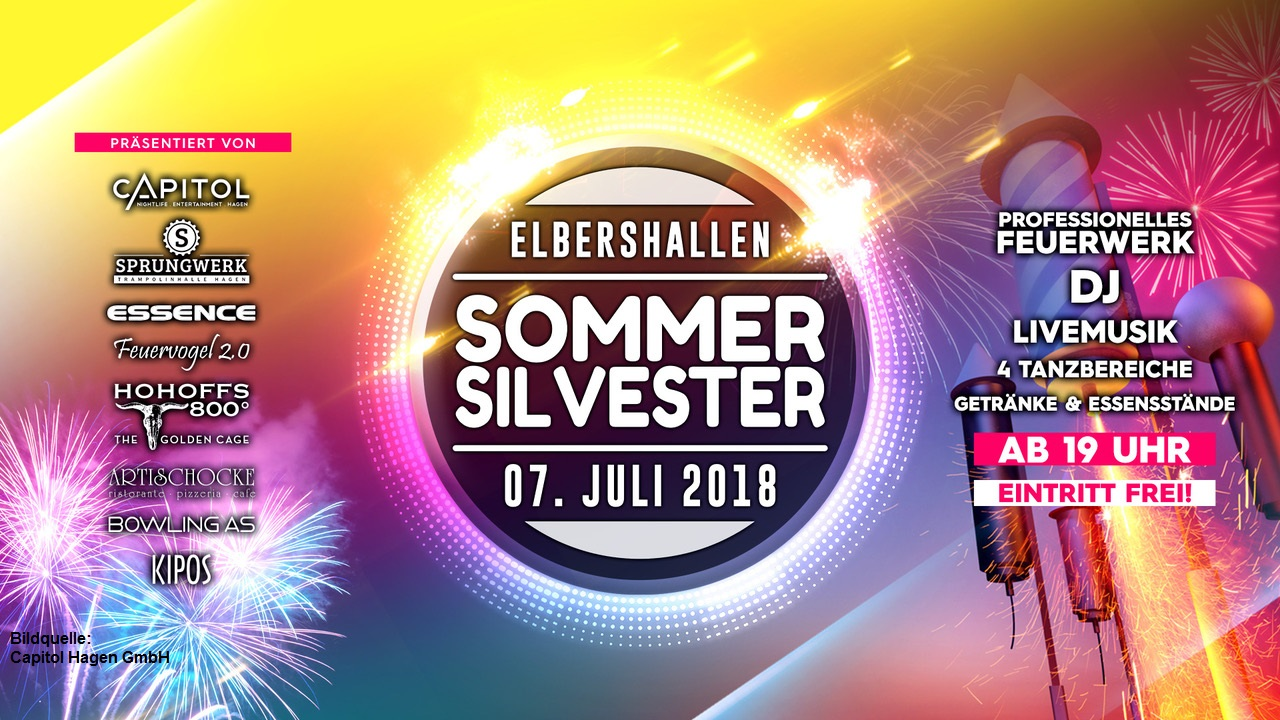 07.07.: ELBERSHALLEN SOMMER SILVESTER