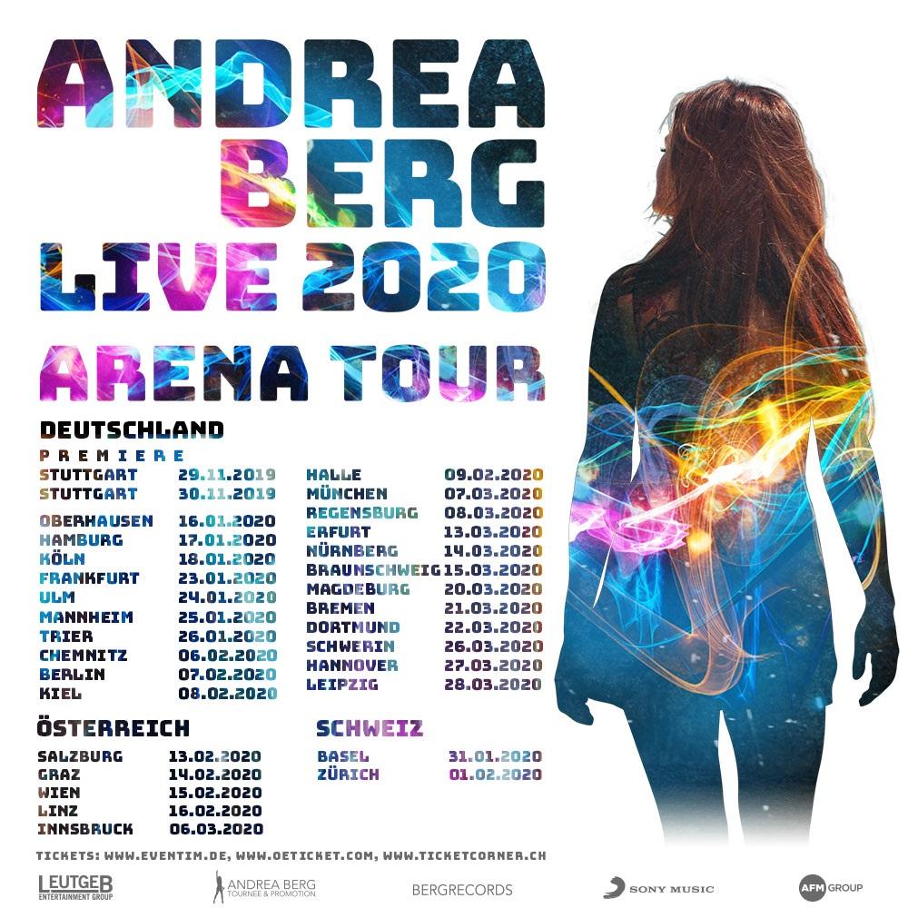 ANDREA BERG LIVE 2020 ARENA TOUR