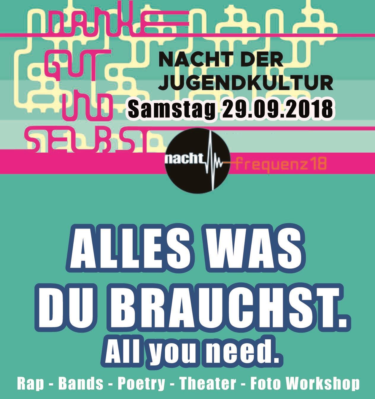 """""""Alles, was du brauchst"""": Nacht der Jugendkultur mit viel Musik"""