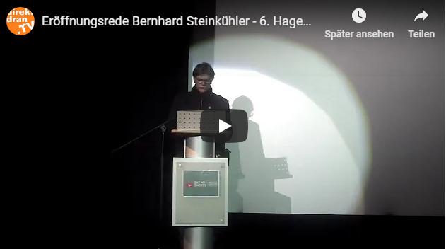 BERNHARD STEINKÜHLER ERÖFFNET DAS 6. HAGENER KURZFILMFESTIVAL (VIDEO)
