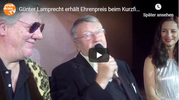 Günter Lamprecht erhält Ehrenpreis beim Kurzfilmfestival (Video)