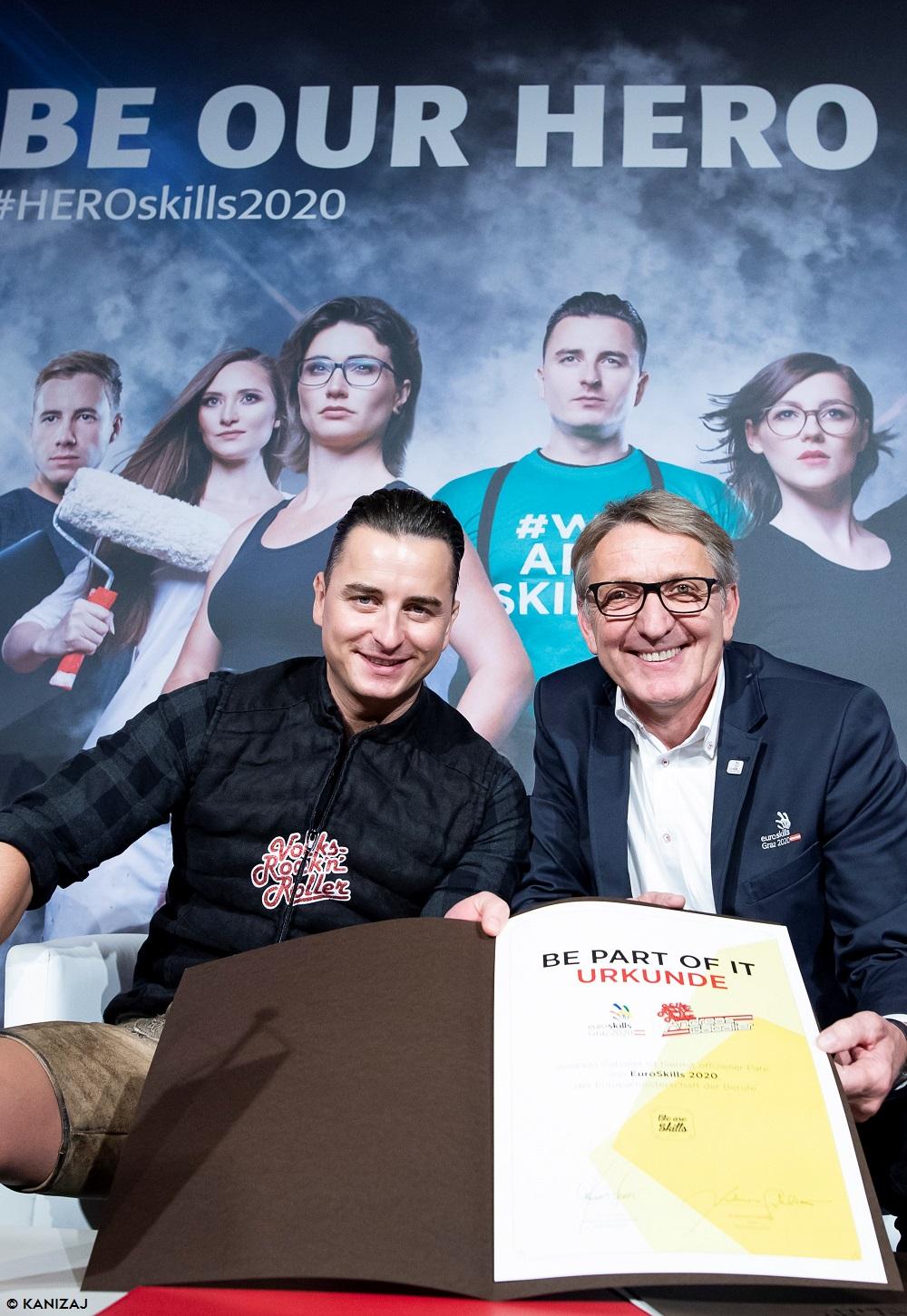 Volks-Rock'n'Roller Andreas Gabalier übernimmt die Patenschaft für die EM der Berufe 2020 in Österreich