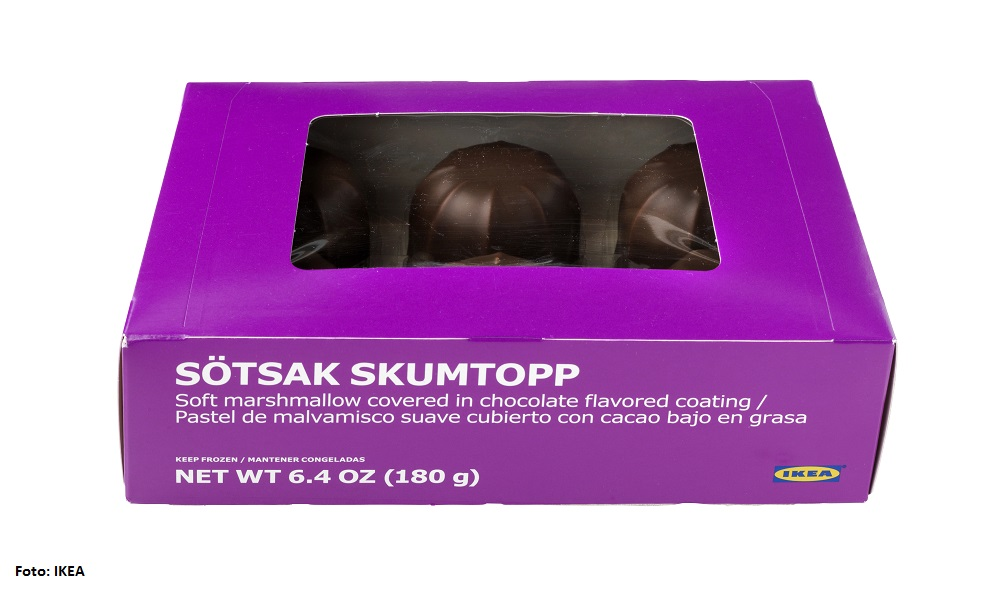 IKEA ruft SÖTSAK SKUMTOPP Schaumgebäck, 180g, zurück