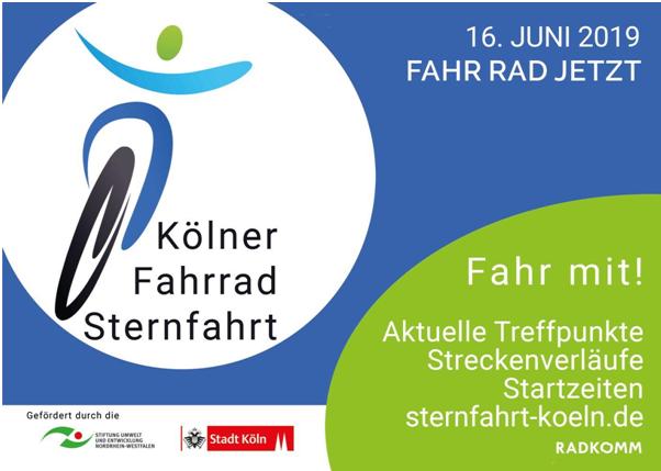 12. Kölner Fahrradsternfahrt am 16. Juni 2019