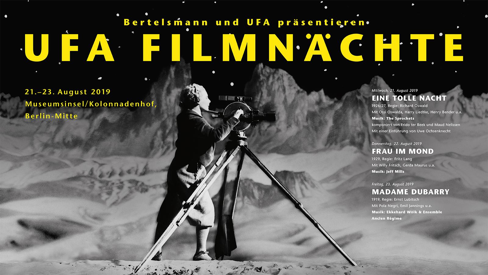 UFA Filmnächte in Berlin wieder mit großen Meisterwerken des Weimarer Kinos