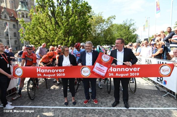 Deutschland Tour heute in Hannover gestartet