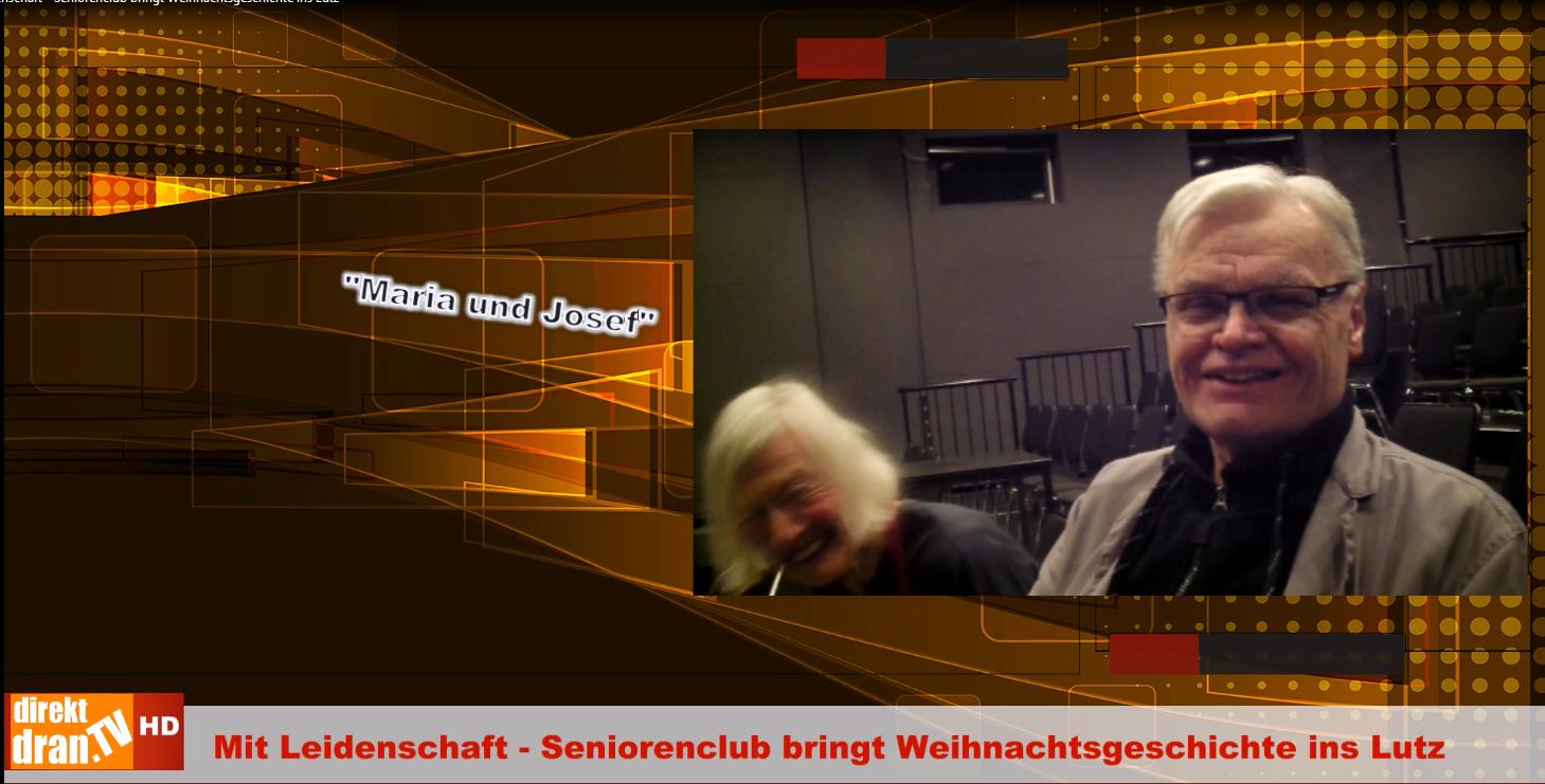 Mit Leidenschaft Seniorenclub bringt Weihnachtsgeschichte ins Lutz