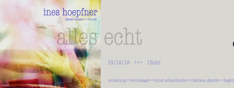 Neue Ausstellung im Kunst-Schaufenster der RATHAUS GALERIE HAGEN mit Ines Hoepfner