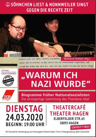 WARUM ICH NAZI WURDE Söhnchen liest & Nonnweiler singt gegen die rechte Zeit