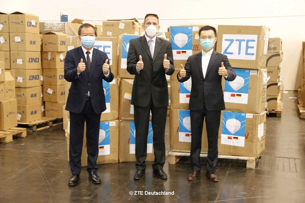 ZTE spendet 10.000 Atemschutzmasken an Nordrhein-Westfalen