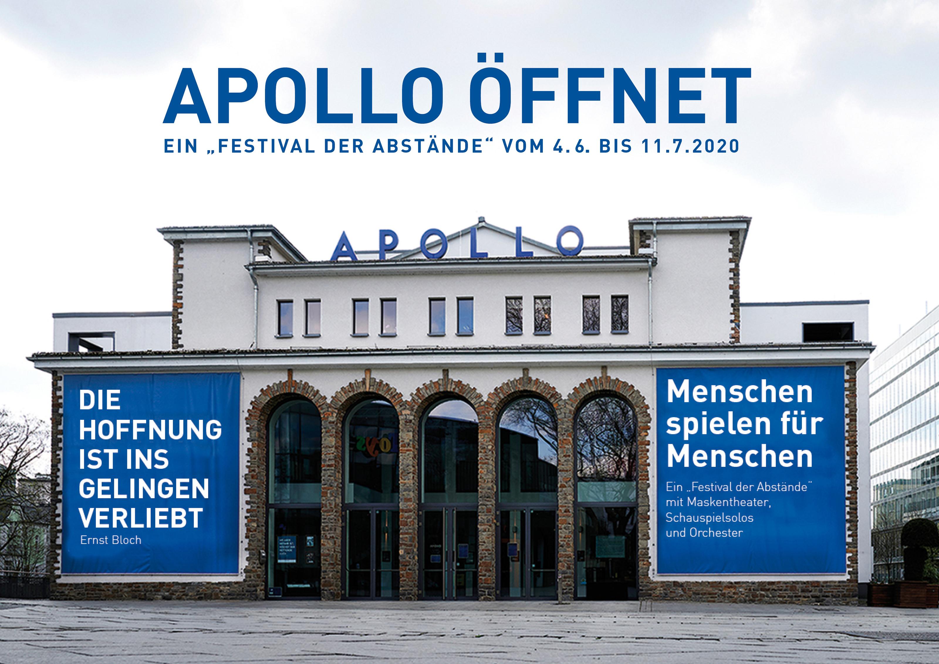"""Apollo öffnet mit """"Festival der Abstände"""""""