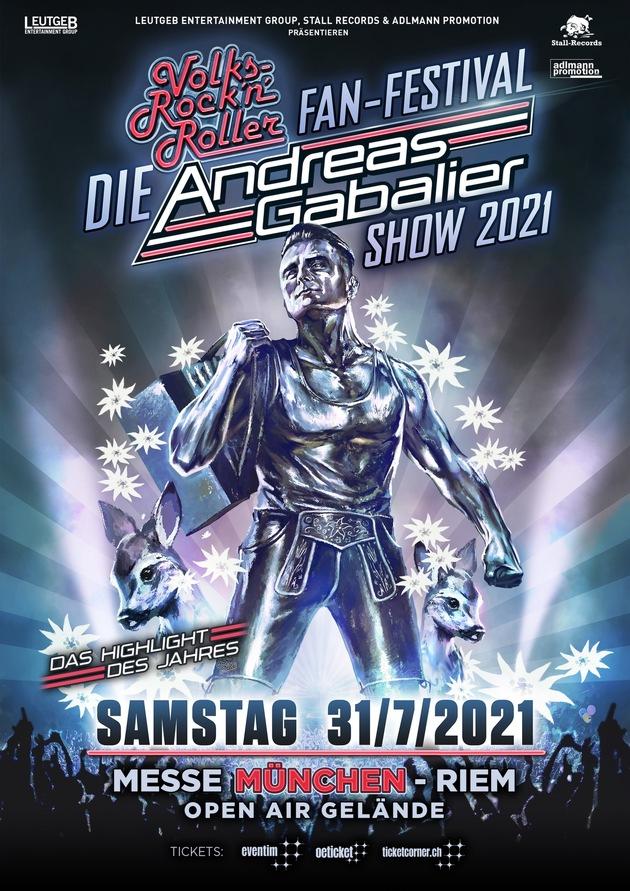 "DIE" ANDREAS GABALIER SHOW 2021 in München