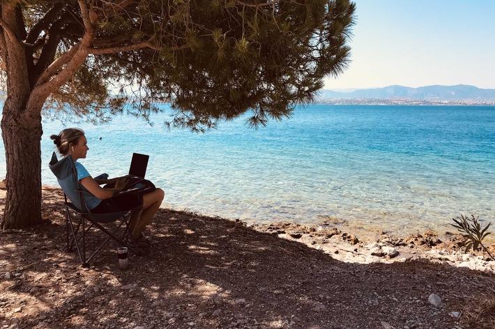 Digitale Nomaden schreiben Blogs, texten, programmieren, leben von Werbung oder Onlinekursen