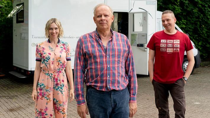 """Dreh für NDR Film """"Meine Freundin Volker"""" mit Axel Milberg und Kim Riedle"""